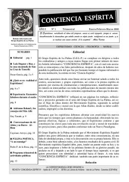 CONCIENCIA ESPÍRITA - Grupo Espírita de La Palma