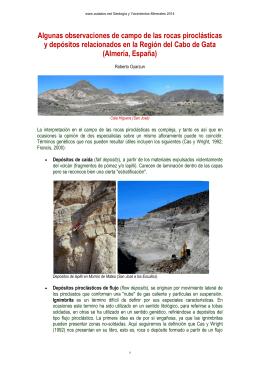 Rocas piroclásticas