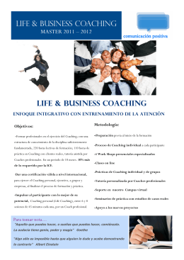 LIFE & BUSINESS COAChING LIFE & BuSINESS COACHING