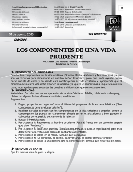 LOS COMPONENTES DE UNA VIDA PRUDENTE