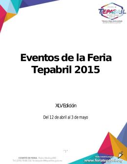 Eventos de la Feria Tepabril 2015