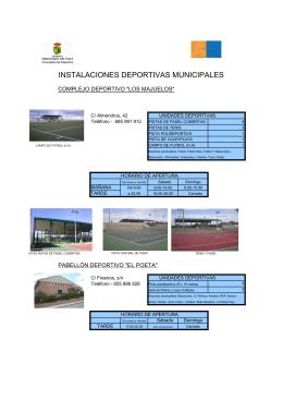 instalaciones deportivas Serranillos