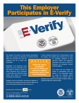 Participates in E-Verify This Employer