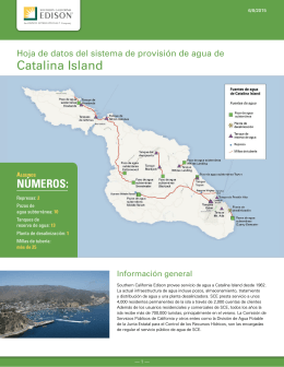 Catalina Water System Fact Sheet in Spanish