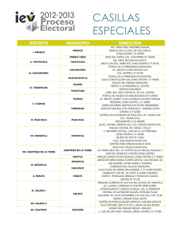 CASILLAS ESPECIALES - Instituto Electoral Veracruzano