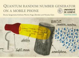 quantum random number generator on a mobile phone