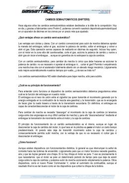 CAMBIOS SEMIAUTOMÁTICOS (SHIFTERS) Hace