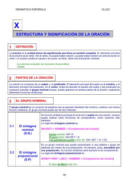 ESTRUCTURA Y SIGNIFICACIÓN DE LA ORACIÓN