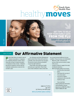 healthymoves - Peach State Health Plan