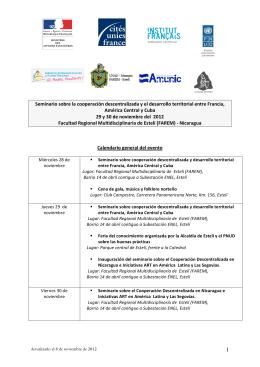 1 Seminario sobre la cooperación descentralizada y el desarrollo