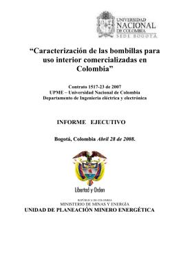 """""""Caracterización de las bombillas para uso interior"""