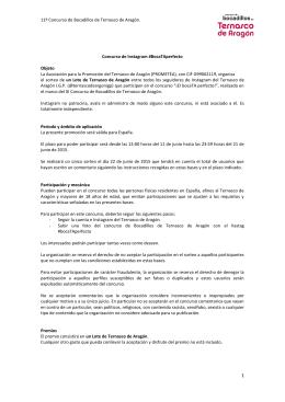 11º Concurso de Bocadillos de Ternasco de Aragón. Concurso de