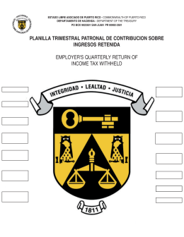 planilla trimestral 2004 - Departamento de Hacienda de Puerto Rico