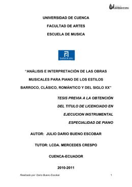 El piano - Universidad de Cuenca