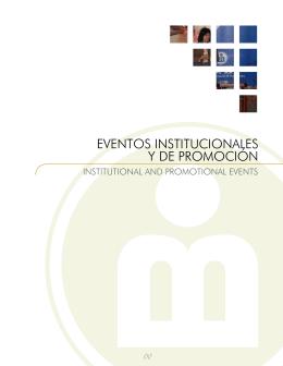 EVENTOS INSTITUCIONALES Y DE PROMOCIÓN