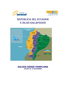 REPUBLICA DEL ECUADOR E ISLAS GALAPAGOS