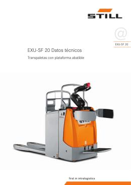 EXU-SF 20 Datos técnicos