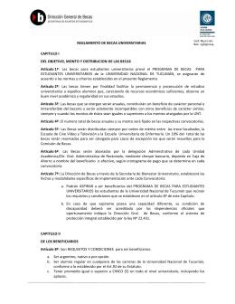 Reglamentos de Becas Universitarias - Becas UNT