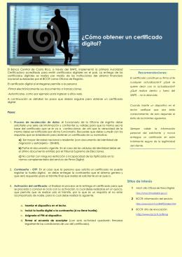 ¿Cómo obtener un certificado digital?