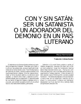 CON Y SIN SATÁN: SER UN SATANISTA O UN ADORADOR DEL