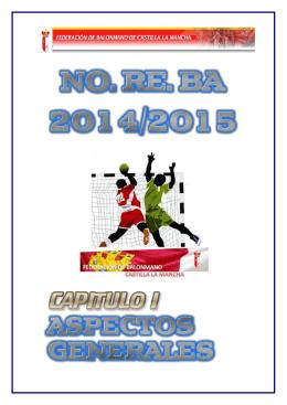noreba 2014/2015 - Federación de Balonmano de Castilla la Mancha