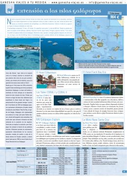 Extensión a las Islas Galápagos