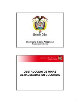 destrucción de minas almacenadas en colombia