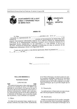VILLA DE HERMIGUA Secretaría General ANUNCIO 7029 5104 Por