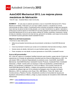 AutoCAD® Mechanical 2013, Los mejores planos