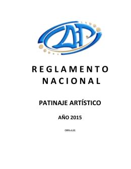 Reglamento Nacional – Patinaje Artístico
