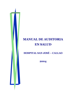 MANUAL DE AUDITORIA EN SALUD