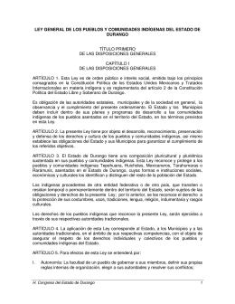 ley general de los pueblos y comunidades indígenas del estado de