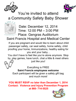 Your invited to attend a Community Safety Baby Shower Date: June