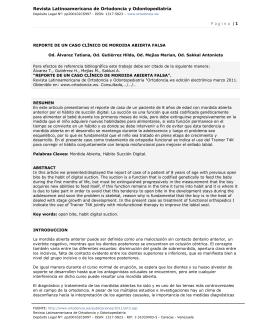 Página | 1 - Revista Latinoamericana de Ortodoncia y Odontopediatría