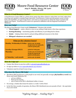 Moore Food Resource Center - Regional Food Bank of Oklahoma