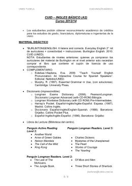 CURSO DE ACCESO - Horarios de los centros asociados de la uned