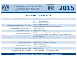 CALENDARIO ESCOLAR 2015-I