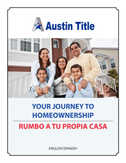 your journey to homeownership rumbo a tu propia casa