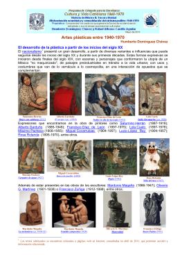 Artes plásticas entre 1940-1970 - Portal Académico del CCH