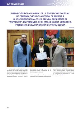 imposición de la insignia de la asociación colegial de criminólogos