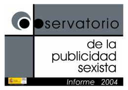 Informe 2004 - Instituto de la Mujer