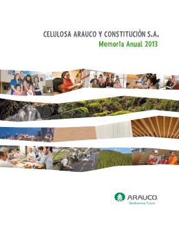 CELULOSA ARAUCO Y CONSTITUCIÓN S.A. Memoria Anual 2013