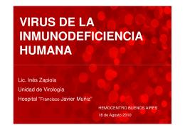 HIV - Fundación Hemocentro Buenos Aires
