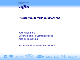 Plataforma de VoIP en el CATNIX