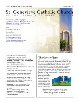 DARwin Interactive Audit -> - St. Genevieve`s Catholic Church