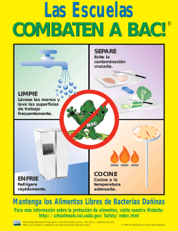 BAC School Poster Spanish - National Coalition for Food