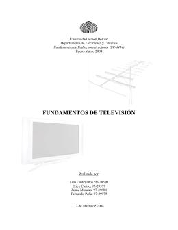 FUNDAMENTOS DE TELEVISIÓN - Universidad Simón Bolívar