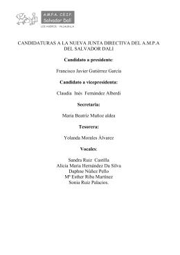 lista de candidatos - AMPA Salvador Dalí