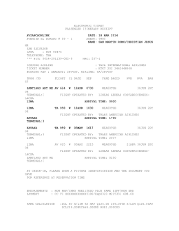 ELECTRONIC TICKET PASSENGER ITINERARY