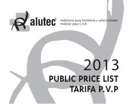 PUBLIC PRICE LIST TARIFA P.V.P